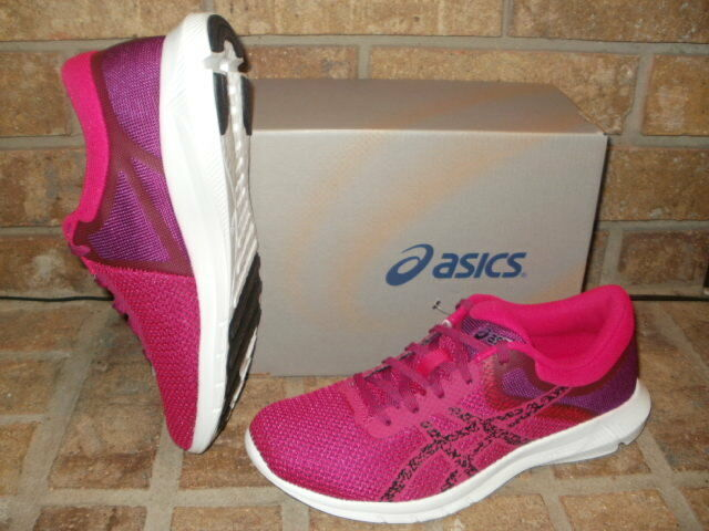 New ASICS Nitrofuze 2 Running Shoe/T7E8N 2090 Cosmo Pink-Black-Prune MSRP Price reduction Seasonal clearance sale