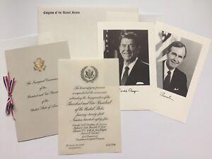 1985-President-Ronald-Reagan-Inauguration-Congressional-Invitation-Package-Bush