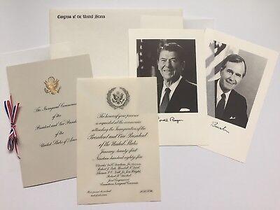 Border Control Quote in Lucite Ronald Reagan Inauguration Memorabilia #20