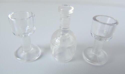 Playmobil Clear bottle /& glasses NEW dollshouse//camping//cafe//shop extras