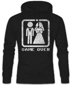 Nerd con nuziale cappuccio e Party Game Over Bachelor Couple cerimonia Felpa da felpa cappuccio con 7PHn0