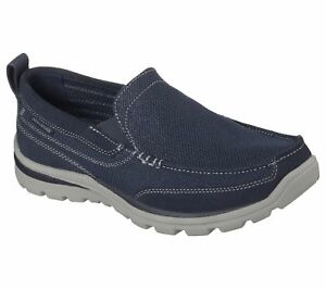 Skechers 64365 Relaxed Fit Shoes Navy Milford nnwzCOqP