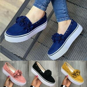 Womens-Ladies-Soft-Shoes-Loafers-Pumps-Casual-Slip-On-Flat-Sneakers-Shoes