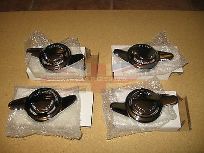 WIre wheel nuts chrome spinners 8 tpi set of 4 MG Healey Triumph