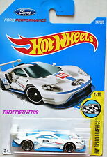 HOT WHEELS 2017 HW SPEED GRAPHICS 2016 FORD GT RACE #1/10 WHITE