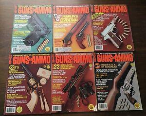GUNS & AMMO MAGAZINE 1979 Lof of 6 Vintage Firearms Shooting Hunting Ads