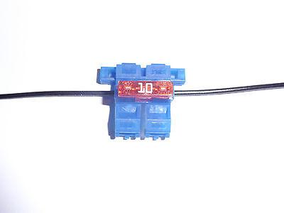 5 Stück Sicherungshalter Auto Schnellverbinder Kfz blau Sicherung Schnellmontage