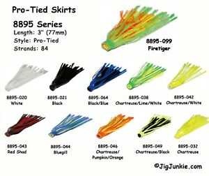 Pro-Tied-Silicone-Skirts-for-Hula-Poppers-Spinners-Buzzbaits-or-Jigs