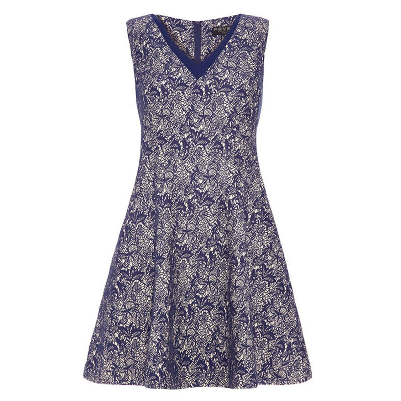 %fever London Wilmore Fit And Flare Kleid Blau S O. M (uk10-12, Eu38-40)