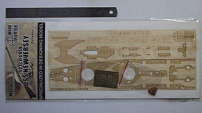 W70079 Hunter 1//700 USS New Jersey BB62 wooden deck for Trumpeter 0570