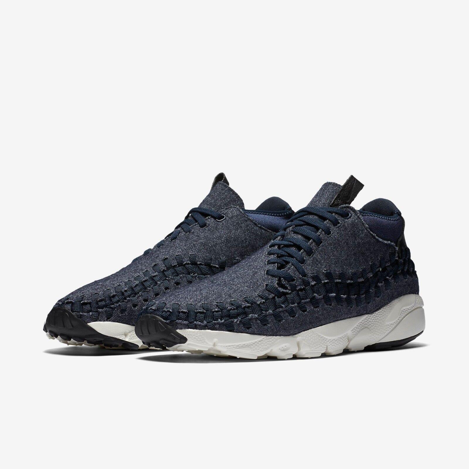 Nike Air Footscape Woven Chukka SE shoes Mens 11 Obsidian Black Sail 857874 400