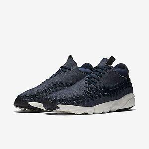 0541cee826d7 Nike Air Footscape Woven Chukka SE Shoes Mens 11 Obsidian Black Sail ...