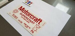 Ford Motorcraft Sticker Decal tool Box Rally car Motorsport workshop