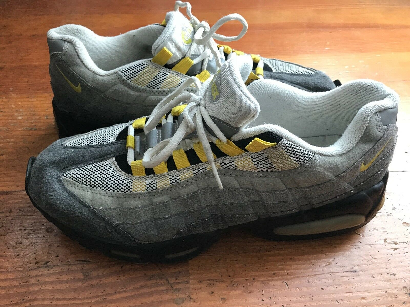 2000 Nike Air Max 95 Volt Neon Grey Size 12