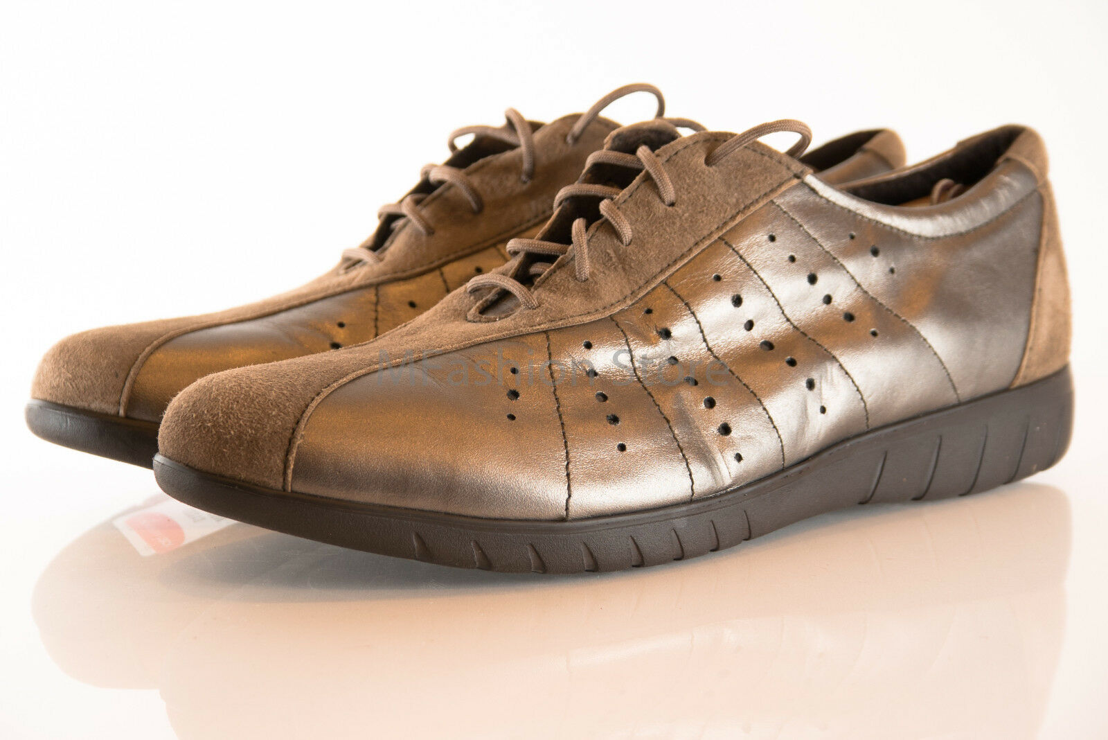MUNRO Gold/Brown Leather Sport Mens Shoes Size US 12M Extra Light New