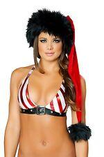 J. Valentine Red/Black Deluxe Santa Hat Christmas Costume 444