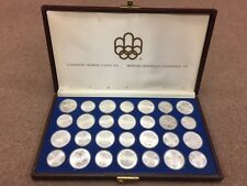 1976 Proof Silver Canadian Montreal Olympic Games Set - 28 Coin in original box