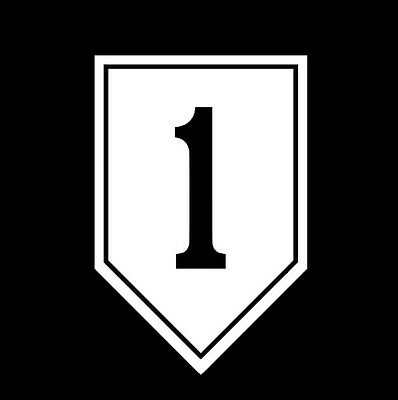 Color 7th Infantry Division Hour Glass Vinyl Window Sticker Decal