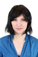 Human Hair Wig: Denise, Shoulder Length Wig Black/ Black Brown 81095qhh-2
