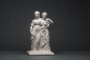 Prinzessinnengruppe-34-cm-n-Schadow-Skulptur-kein-Gips-Deko-Kunst-123