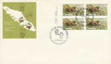 CANADA #883 17¢ ENDANGERED WLDLIFE LL PLATE BLOCK FIRST DAY COVER