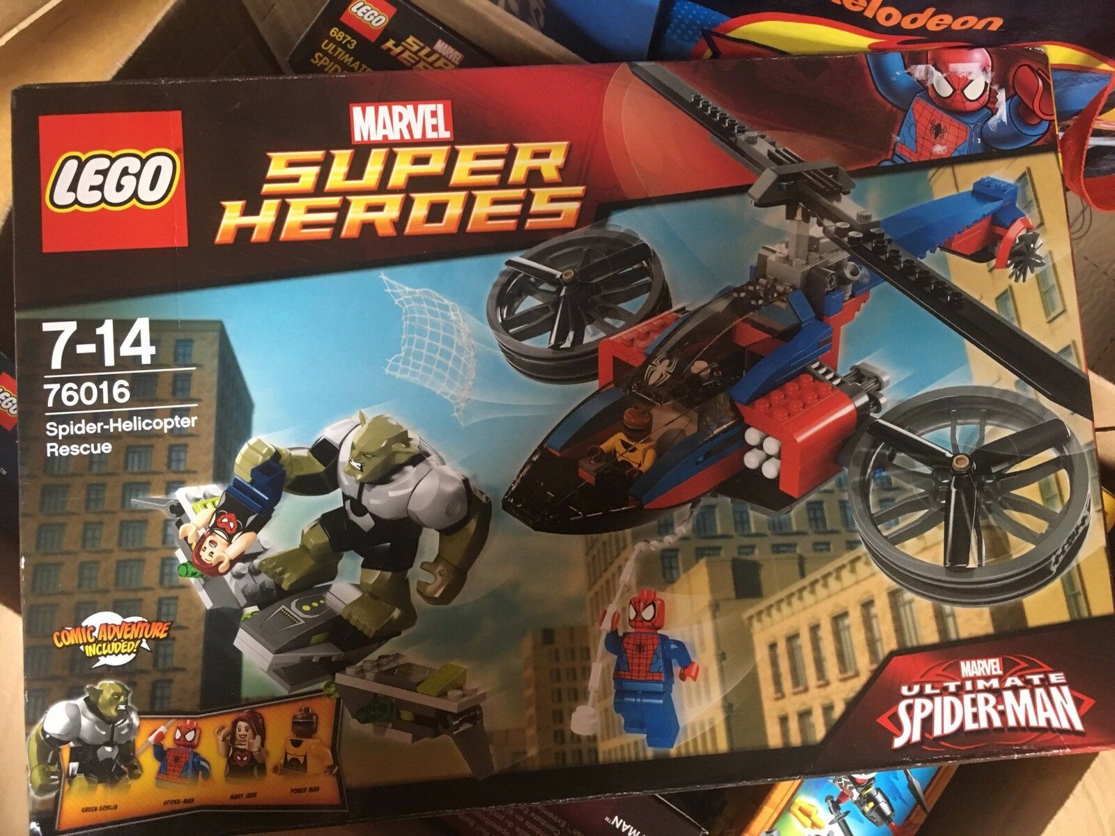 LEGO MARVEL SUPER HEROES SPIDER-HELICOPTER RESCUE 76016