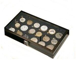 Details About 5 Pocket Watch Storage Display Glass Cases Watch Collection Box Storage Case