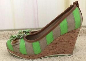 quality design c3725 d72d8 Details zu Tamaris High Heels Pumps mit Keilabsatz grün/beige/braun Größe 38
