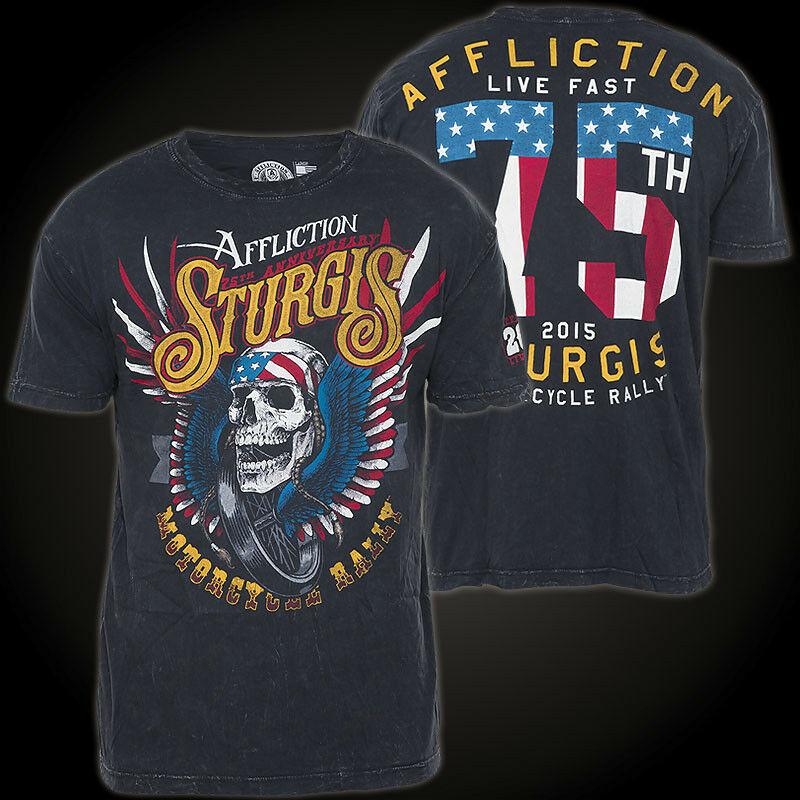 AFFLICTION T-Shirt Sturgis 75TH black T-Shirts