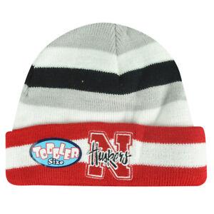 NCAA-Nebraska-Cornhuskers-Toddler-Lil-Sweet-B-Striped-Cuffed-Knit-Beanie-Skully