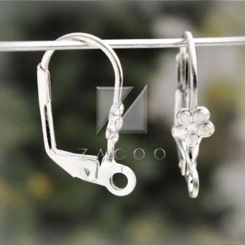 22pcs Silver Lever Back earring hook earwires 18x10mm