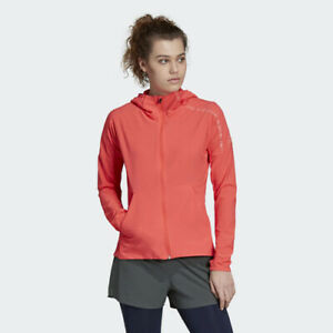 Details about Adidas DU2638 Women Running ZNE hoodie Track top jacket red