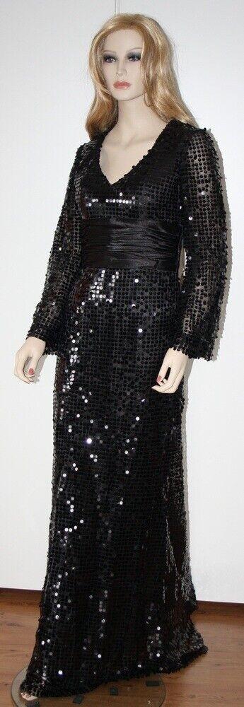 Abends Kleid Ernestina Prom Kleid Hochzeit Sequin Sequin Sequin Kleid Schwarze Größe 38 (8) Neu 5ce