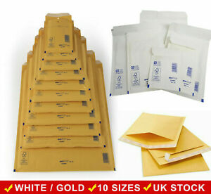 AROFOL-PADDED-BUBBLE-ENVELOPES-BAGS-WHITE-OR-GOLD-MAILERS-MAILING-BAGS-ALL-SIZES