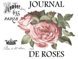 Details About Vintage Image French Paris Pink Rose Furniture Transfers Waterslide Decals Fl513