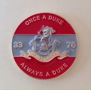 Duke of Wellington Regiment Colours Lapel Badge 3D 30mm DWR-B