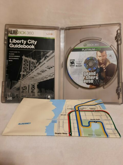 Grand Theft Auto IV Platinum Hits GTA Complete Tested W/ Map Microsoft Xbox 360