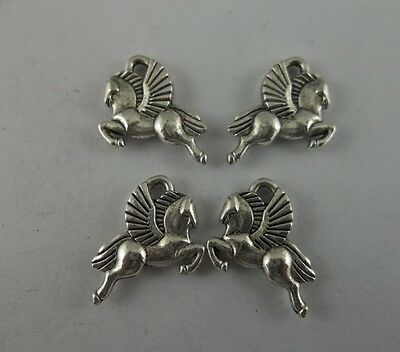 Tibetan silver  horse charms necklace 18x15mm
