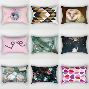 Am-FP-30x50cm-Decor-Rectangle-Pillow-Case-Bird-Flower-Heart-Sky-Cushion-Cover