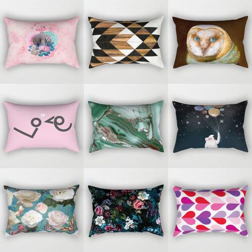 30x50cm Decor Rectangle Pillow Case Bird Flower Heart Sky Cushion Cover FP DI