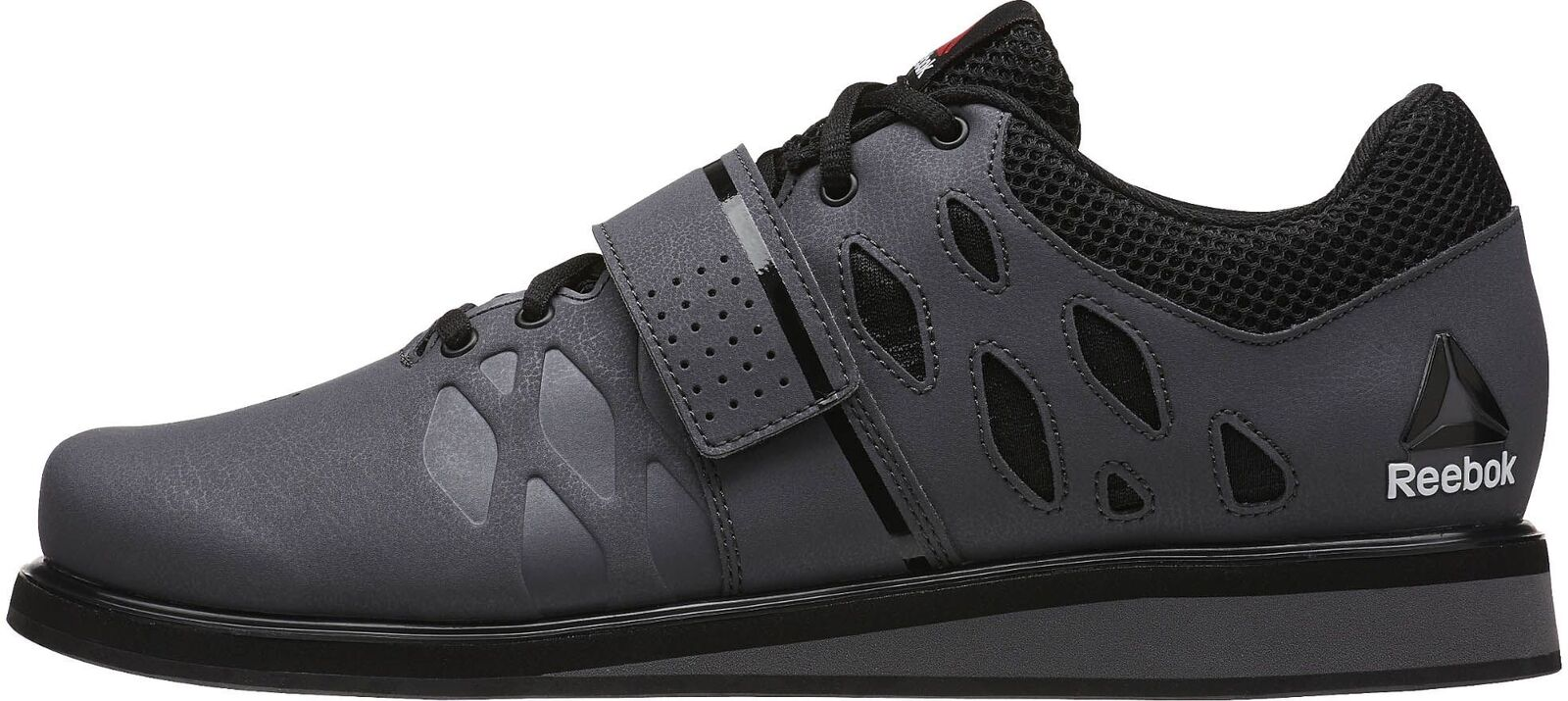 Reebok Lifter PR Mens Weightlifting zapatos gris Bodybuilding botas Gym Training