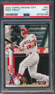 2020 Topps Opening Day #90 Mike Trout PSA 9