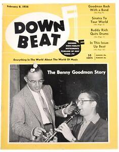 DownBeat February 8 1956 Benny Goodman Story  & Great Ads