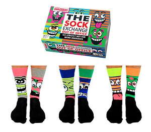 Mens Size 6-11 United Oddsocks Stress Heads 6 Odd Socks Gift Box