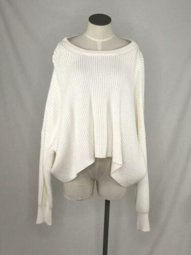 Lia Kes Size M Ivory White Sweater Cropped Oversiz