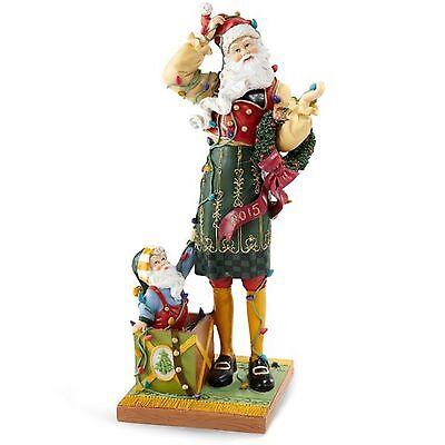 Lenox Christmas 2015 Annual Pencil Santa Figurine Santa's Merry Mix Up Elf NEW
