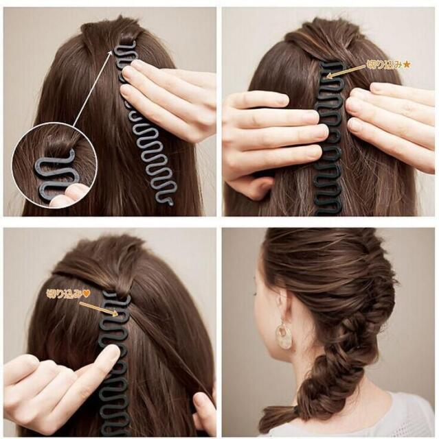 Hair French Roller Braid Clip Magic Styling Stick Diy Bun Maker Tool