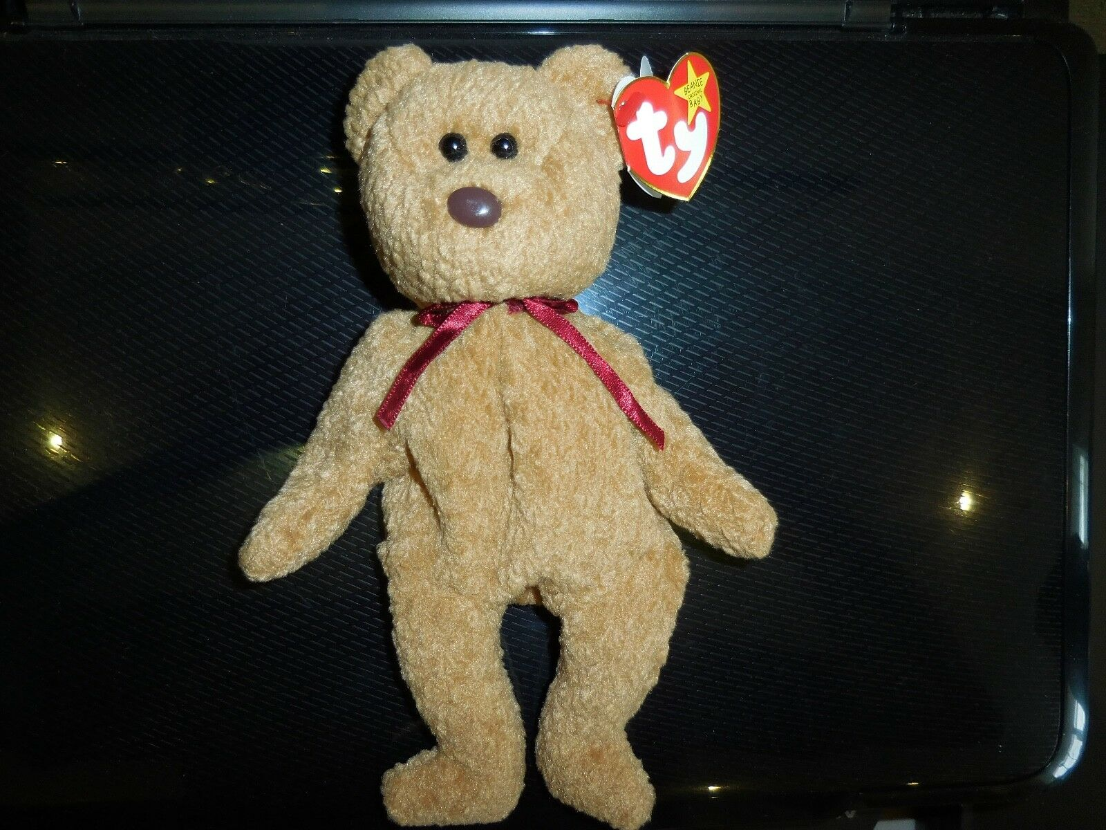 TY Retired Beanie Baby Curly Bear 1993 1996 Rare Date Error Tags