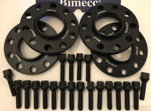 Rueda De Aleación Separadores X 4 Para BMW F10 F11 F12 F13 5 12mm B BIMECC M14X1.25 72 ser