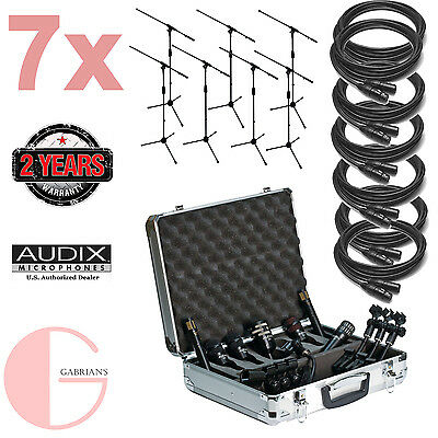 audix dp7 7pc drum mic package w 7pc xlr cable and 7pc mic stand bundle 687471401125 ebay. Black Bedroom Furniture Sets. Home Design Ideas